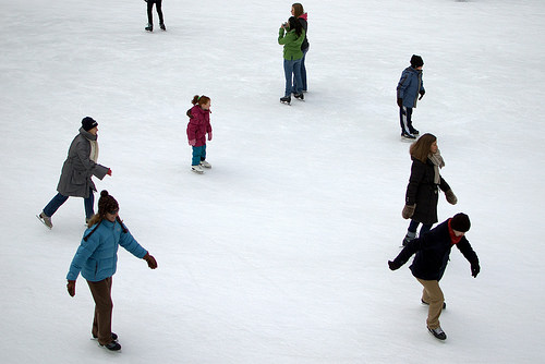 Ice Skating at Millennium Park