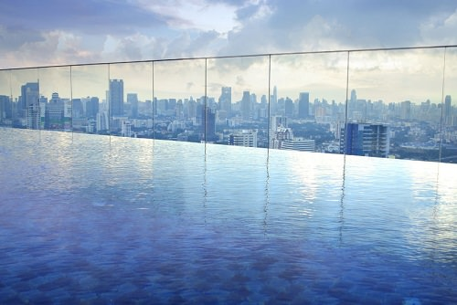 Sands SkyPark Infinity Pool Marina Bay Sands Hotel Singapore
