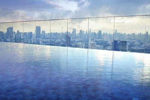 Sands SkyPark Infinity Pool Marina Bay Sands Hotel Singapore