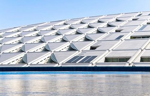 the modern Library of Alexandria, Egypt