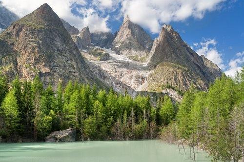 Mont Blanc French Italian Border