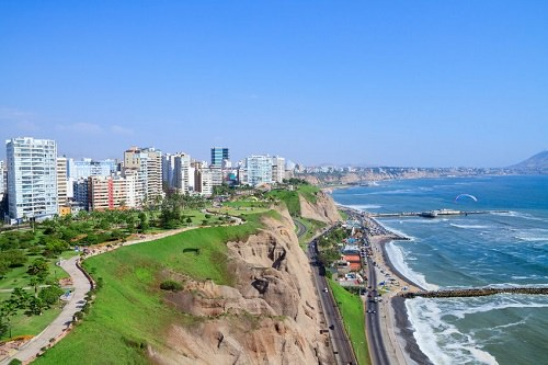 Surfing in Lima Peru