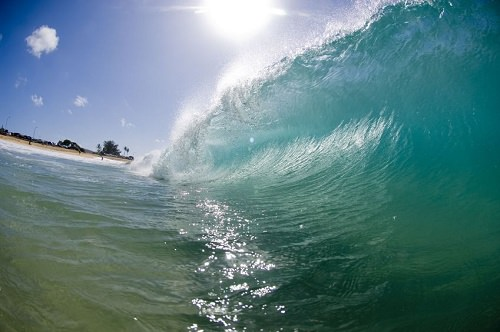 Surfing in Pipeline Oahu Hawaii