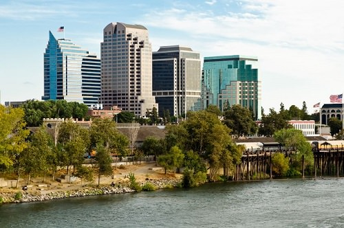 Bicycling in Sacramento, California