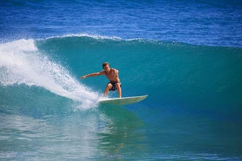Surfing in Superbank Gold Coast Australia