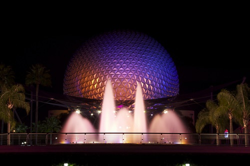 The Fountain of Nations at Epcot in Lake Buena Vista Florida