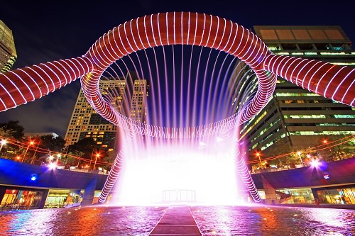The Fountain of Wealth at Suntec City Mall in Singapore