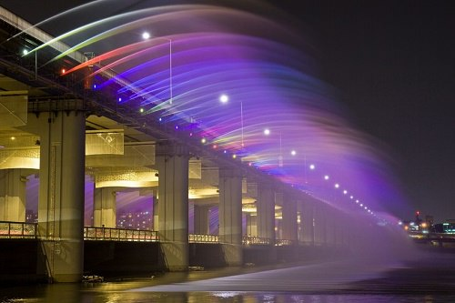 The Moonlight Rainbow Fountain in Seoul South Korea
