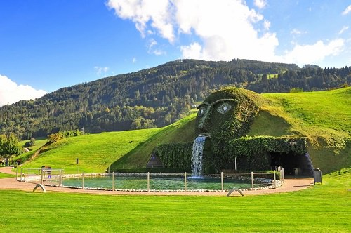 The Swarovski Fountain in Innsbruck Austria