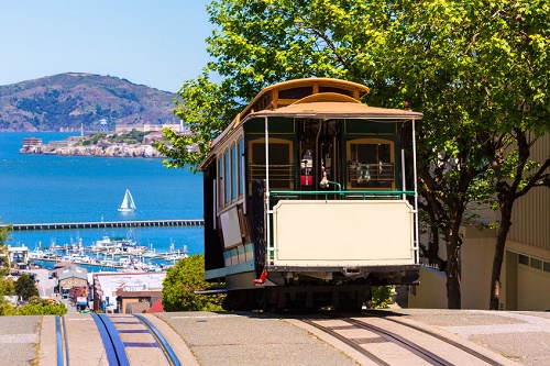 Use the cable car system to look around the city