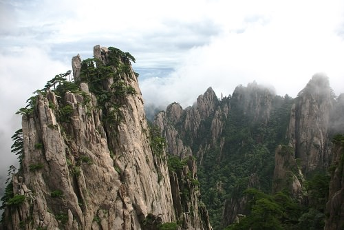 Mount Huangshan in the Anhui province