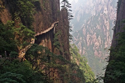 The Enshi Canyon in the Hubei province