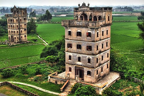 The Kaiping Diaolou watchtowers in the Guangdong province
