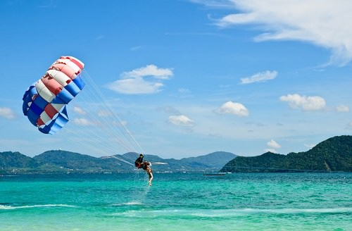 The parasailing adventures
