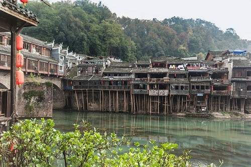 The stilted Fenghuang village and the Hunan province